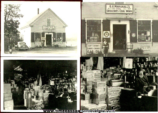 (2) York Village, Maine Old General Store Photographs