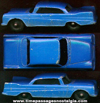 Old Blue Painted Diecast Tootsietoy Plymouth Car