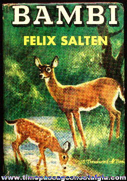 �1929 Bambi Hard Back Book by Felix Salten