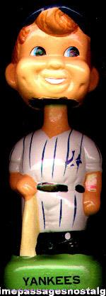 New York Yankees Bobbing Head Nodder Base Ball Player Figure