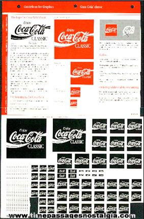 Graphic Advertising Art Design Sheet For Coca - Cola Classic