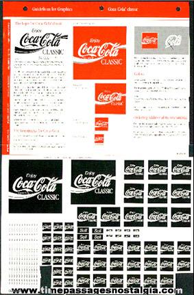 Graphic Advertising Art Design Sheet For Coca - Cola Classic