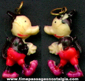 Early Painted Celluloid Mickey Mouse Figure Charm