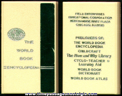 Old World Book Encyclopedia Advertising Premium Bank