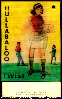 Old Hullabaloo Twist Dance Vari-Vue Venticular Flicker Card