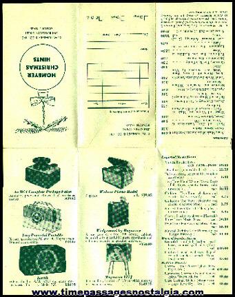 C.W. Homeyer & Co. Inc. Christmas Hints Sales Brochure