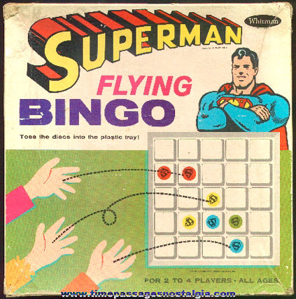 1966 Superman Flying Bingo Game