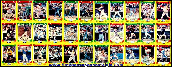 1982 Uncut Drakes Big Hitters Baseball Card Sheet Premium With The Original Mailer