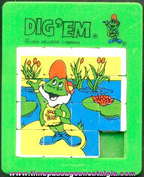 ©1979 Kellogg's Cereal Premium Dig'em Frog Character Slide Puzzle