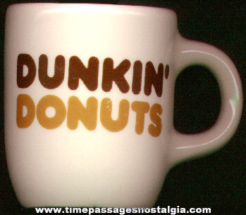 1960's Dunkin' Donuts Heavy China Coffee Cup