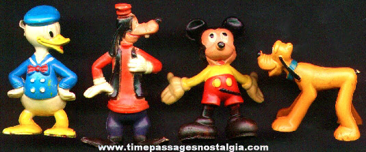 (4) Painted Disney Character Figures