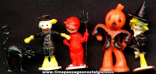 (5) Old Halloween Cake Decoration Figures
