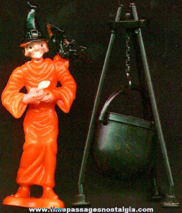 Halloween Witch & Cauldren Cake Decoration set