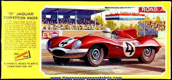 "Unbuilt ""D"" Jaguar Competition Racer Lindberg Model Kit"