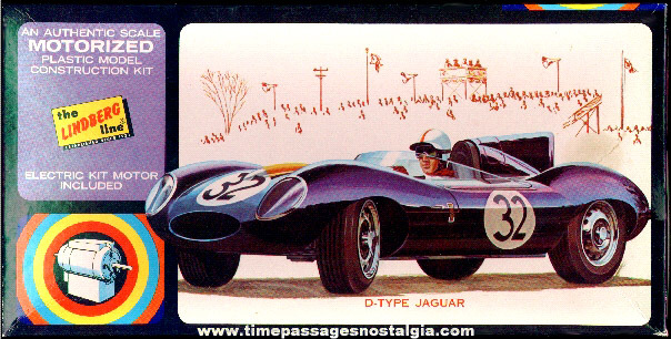 "Unbuilt ""D"" Jaguar Motorized Lindberg Model Kit"