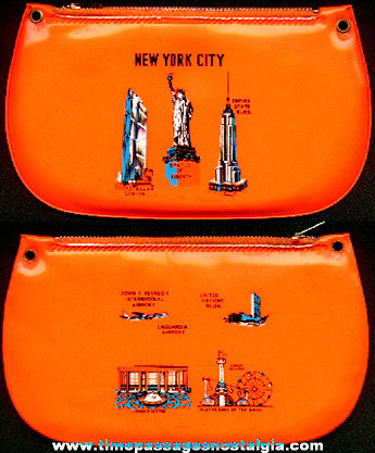 Old New York City Advertising Souvenir Vinyl Purse