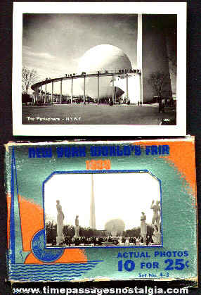 1939 New York World's Fair Packet Of 10 Souvenir Photos