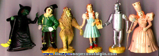 (6) Different Wizard Of Oz Character Figures