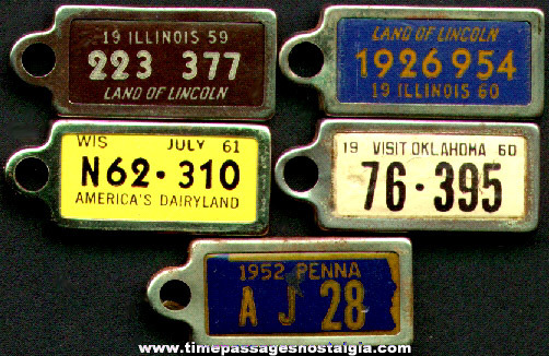 (5) Disabled American Veterans License Plate Charms