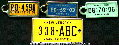 (3) Disabled American Veterans License Plate Charms Plus Another