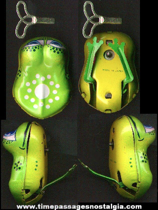 Tin Wind Up Frog Toy With Key