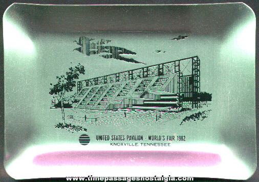 1982 Knoxville, Tennessee World's Fair Aluminum Souvenir Tray