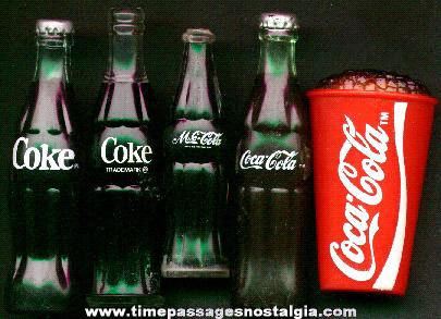 (5) Small Coca - Cola Soda Advertising Items