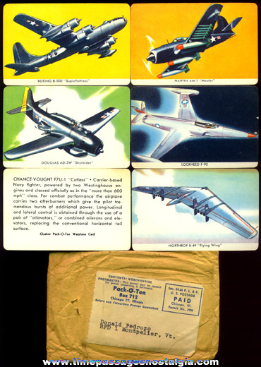 Complete Set Of (27 different) 1957 Airplane Cards With Mailer From Quaker Pack Of Ten Cereal