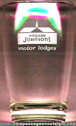 Howard Johnson's Restaurant Advertising Drinking Glass