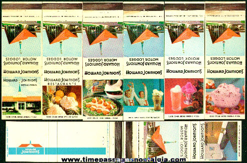 (8) Different Old Howard Johnson's Restaurant Advertising Match Packs
