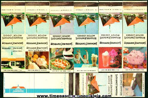 (8) Different Old Howard Johnson's Restaurant Advertising Match Packs