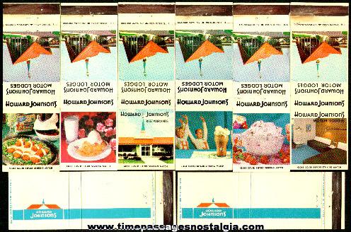 (8) Old Howard Johnson's Restaurant Advertising Match Packs
