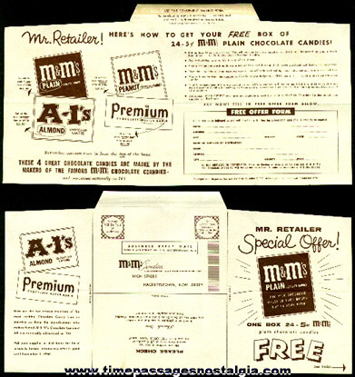 Scarce 1960 Special Retailer Offer For M & M's Candy