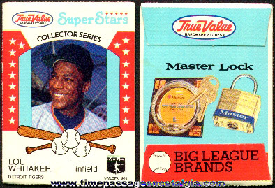 Unopened True Value Hardware Baseball Card Packet