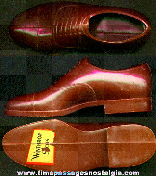 Old Winthrop Shoes Advertising Premium Or Display Plastic Shoe