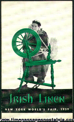 1939 New York World's Fair Irish Linen Booklet