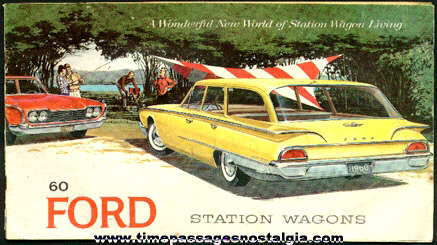 1960 Ford Station Wagon Advertising Booklet