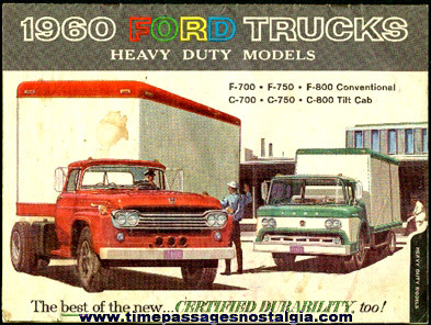 1960 Heavy Duty Ford Trucks Advertising Booklet