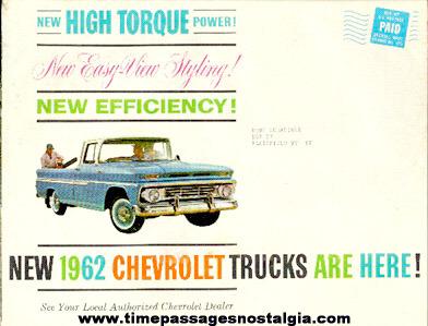 1962 Chevrolet Trucks Advertising Booklet
