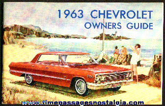1963 Chevrolet Owners Guide