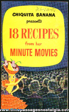 1950 Chiquita Banana Advertising Premium Recipe Booklet