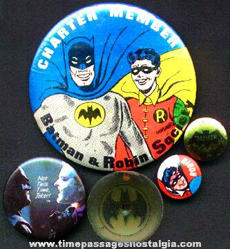 (5) Small Batman & Robin Items
