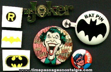 (7) Small Batman Related Items