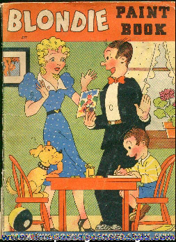 1940 King Features Syndicate Blondie Paint Book