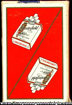 Boxed Chesterfield Cigarettes Advertising Premium Playing Cards