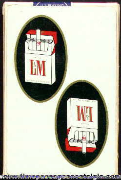Boxed Advertising Premium Deck Of L & M Cigarettes Playing Cards