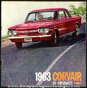1962 Chevrolet Corvair Advertising Booklet for 1963 Corvairs