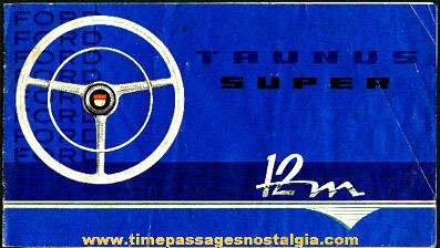 Old Ford Taunus 12M Super Advertising Booklet