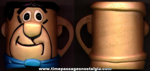 ©1968 Flintstones Vitamins Fred Flintstone Advertising Premium Cup