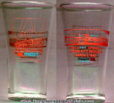 K-Mart 20th Anniversary Advertising Drinking Glass